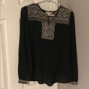 Tops - Blouse with cuff accents
